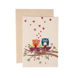 Salay Handmade Paper Industries Inc. Owl Nest Card