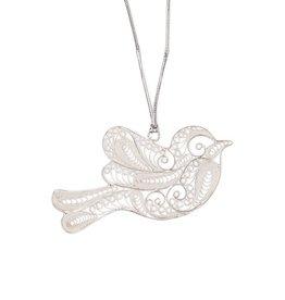 Pekerti Nusantara Silver Dove Ornament