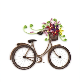 Quilling Card Bicycle Flower Card