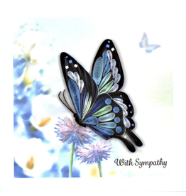 Quilling Card Sympathy Butterfly Card