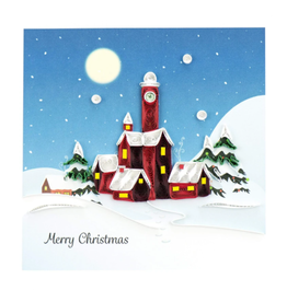 Quilling Card Christmas Village Card