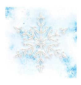 Quilling Card Blue Snowflake Card