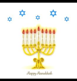 Quilling Card Menorah Hanukkah Card