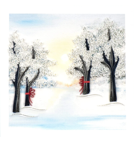 Quilling Card Snowy Trees Card