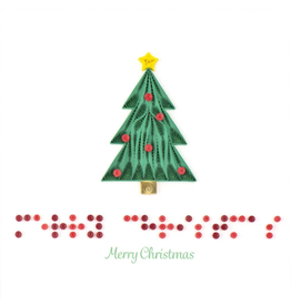 Quilling Card Braille Merry Christmas Card