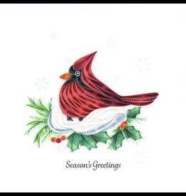 Quilling Card Seasons Greetings Cardinal Card