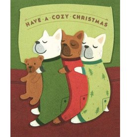 Good Paper Cozy Dogs Christmas Card