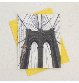 Mr. Ellie Pooh Bridge Greeting Card