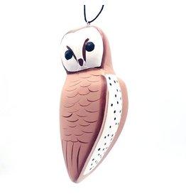 Women of the Cloud Forest Balsa Barn Owl Ornament