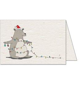 Koru Street Christmas Light Bear Card
