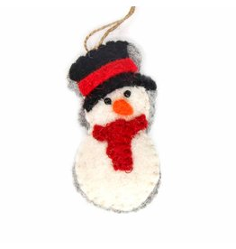 Global Groove Red Snowperson Ornament