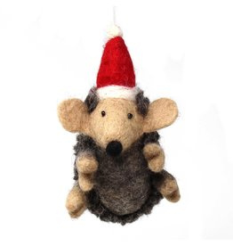 Global Groove Felted Hedgehog Ornament