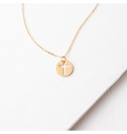 Starfish Project Simple Gold Cross Necklace