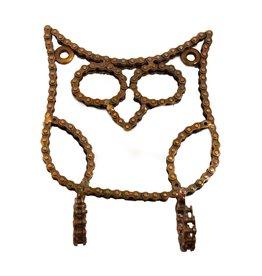 Mira Fair Trade Bike Chain Owl Hook