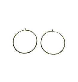 Sasha Association for Crafts Producers Hammered Brass Hoop Earrings