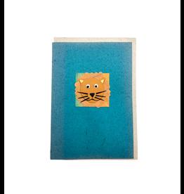 Salay Handmade Paper Industries Inc. Friendly Lion Greeting Card