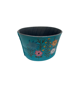 Noah's Ark Recycled Tire Garden Planter Turquoise