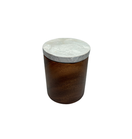 Saffy Handicrafts Acacia Wood Canister (Large)