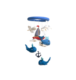 The Winding Road Whale and Sailboat Mobile