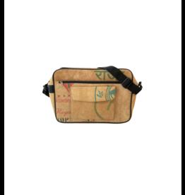 Koru Street Upcycled Tea Messenger Bag