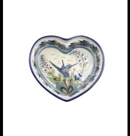 Lucia's Imports Wild Bird Heart Dish