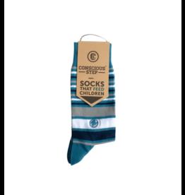 Conscious Step Socks that Feed Children (Stripes)