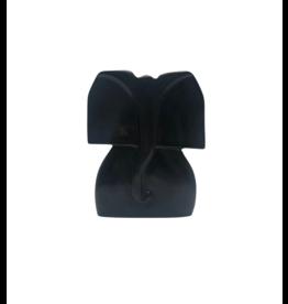 Undugu Society of Kenya Black Kisii Stone Elephant Sculpture (S)