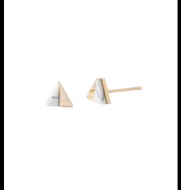Starfish Project Gold Triangle Studs