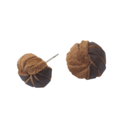 Sasha Association for Crafts Producers Leather Knot Stud Earrings