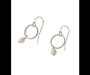 Allpa Sterling Silver Pink Pearl Earrings
