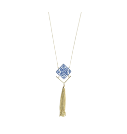 Tara Projects Blue Tile Necklace
