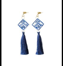 Tara Projects Blue Tile Earrings
