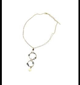 Sasha Association for Crafts Producers Double Circle Pendant Necklace