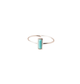 Starfish Project Simple Turquoise Silver Ring