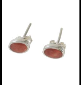 Manos Amigas Sterling Silver Oval Stud Earrings