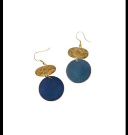 Matr Boomie Cobalt Drop Earrings
