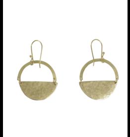 Bombolulu Workshop Half Moon Brass Earrings