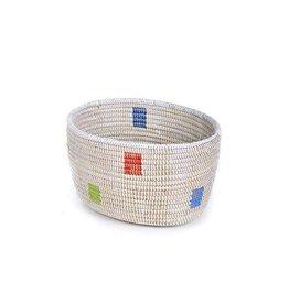 Swahili Modern Prism Knitting Basket (Small)