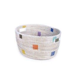 Swahili Modern Prism Knitting Basket (Medium)