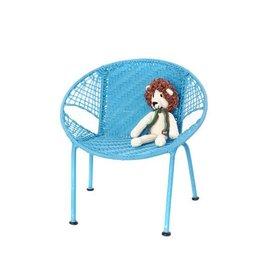 Swahili Modern Blue Peekaboo Chair