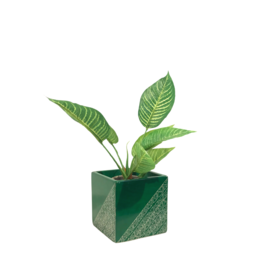Venture Imports Square Green Stone Planter