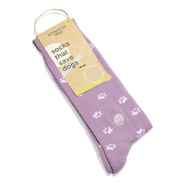 Conscious Step Socks that Save Dogs - Lavender