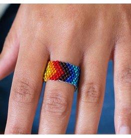 Lucia's Imports Rainbow Beaded Ring