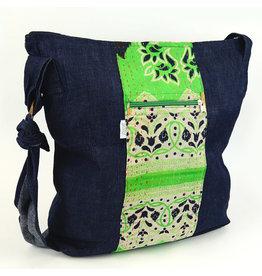 Minga Imports Denim Kantha Slouch Bag
