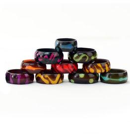 Minga Imports Tagua Batiki Ring