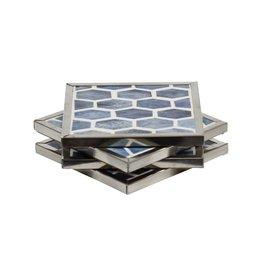 Mela Artisans Grey Elegance Coasters (Set of 4)