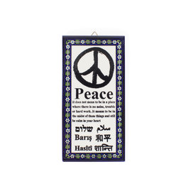 Hebron Glass Peace Wall Hanging