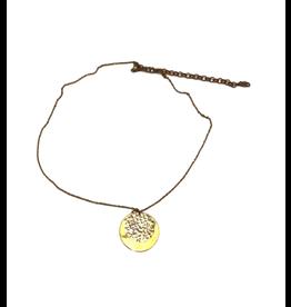 Rajana Association Serious Coin Necklace