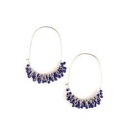Fair Anita Blue Chandelier Earrings