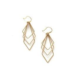 Fair Anita Brass Paragon Earrings